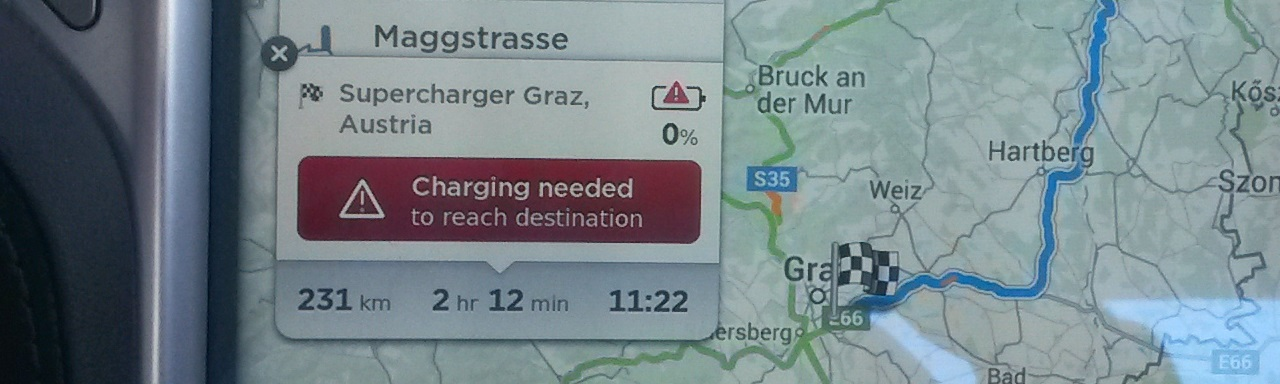 Charging needed to reach your destination